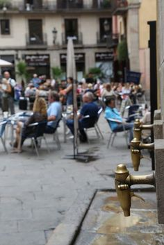 Fountains in El Born neighbourhood of Barcelona