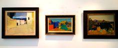 Een fraai trio van mijn lievelingsschilder Wim Oepts.Schilder van het zonnige Zuiden. In deze mooie zomer past een beetje mediterrane sfeer wel in mijn huis.