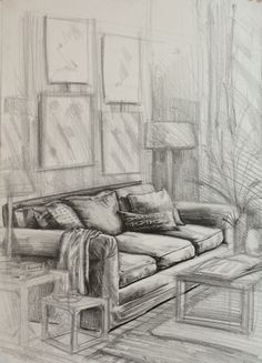 furniture drawing,couch,pen drawing,interior karakalem,iç mekan