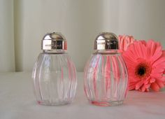Antique Silver Top Salt and Pepper Shakers by cynthiasattic, $39.00