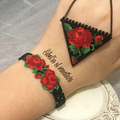 Peyote Beading Patterns, Bead Embroidery Patterns, Beaded Embroidery, Weaving Patterns, Knitting Patterns, Beaded Jewelry Designs, Seed Bead Jewelry, Bead Jewellery, Beaded Earrings