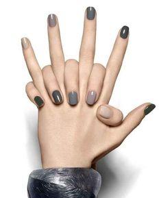gray nails.