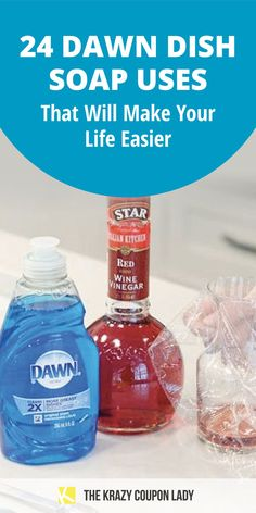 Did you know you can use Dawn Dish Soap for more than just washing dishes?! Here are 24 tips for using Dawn that will save you money, time, and boredom! You can use it to unclog a toilet, defog eyeglasses, make DIY homemade laundry detergent, make DIY pest repellent, make a DIY ice pack, keep your kids entertained with homemade DIY giant bubbles, and more! #cleaningtips #kidsactivities #hacks
