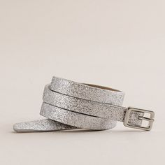 Skinny glitter belt - belts - Women's accessories - J.Crew