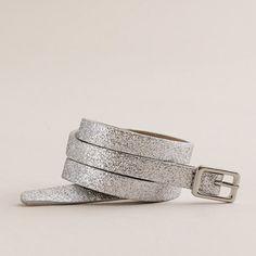 Skinny glitter belt - belts - Women's accessories - J.Crew