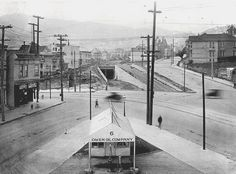 San Fran's Castro St. (Streetcar) Station, under construction in 1919 corner of Castro--Market--17th Street