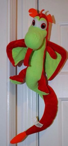 Rare Classic Toy Co Collection Dragon Red Lime Green Plush Stuffed Animal