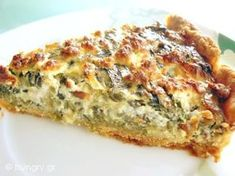tarta me spanaki k feta. Spinach Feta Quiche, Greek Cooking, Greek Dishes, Savory Tart, Fast Dinners, Appetisers, Greek Recipes, Different Recipes, The Best