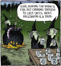 Dying for Chocolate: Cartoon of the Day: Halloween Canning Halloween Cartoons, Halloween Pictures, Halloween Cards, Vintage Halloween, Fall Halloween, Happy Halloween, Halloween Humor, Halloween Stuff, Halloween Ideas
