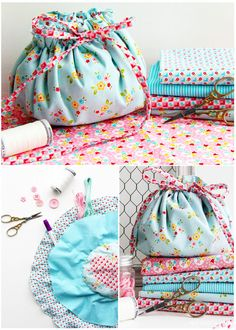 Sewing clutch project - Red Brolly