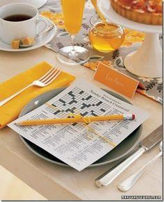 Si bonne idée! Brunch pour la fête des mères - mots croisés Crossword printable mother's day table setting