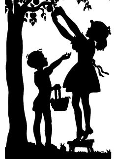 Silhouette Of Children Picking Apples Digital Art by Rose Santuci-Sofranko Silhouette Clip Art, Silhouette Projects, Paper Cutting Patterns, Wood Burning Patterns, Shadow Art, Black N White Images, Paper Art, Fine Art America, Photoshop