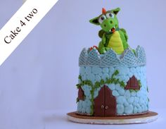 Available as a full size cake or as part of our Cake 4 two range, this dragon and castle cake is perfect for any children's party. The design is all hand crafted by Valeria with an attention to detail simply not available on the high street.