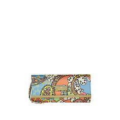 blue placement print clutch - clutch bags - bags / purses - women - River Island £15