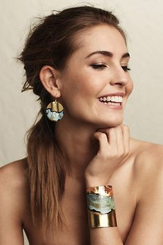 NIP Anthropologie Rasenna Earrings Handmade in Argentina Jewelry Accessories, Fashion Accessories, Women Jewelry, Fashion Jewelry, Jewelry Design, Fashion Earrings, Look Fashion, Fashion Beauty, Looks Vintage