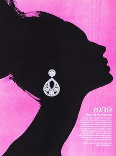 David Downton Advertorial for Van Cleef & Arpels Tattler magazine, 2009 David Downton, Fashion Art, Fashion Design, Artist Fashion, White Fashion, Fashion Models, Design Art, Graphic Design, Fashion Sketches