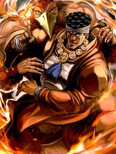 Avdol and Magician's Red