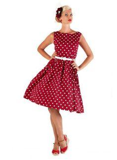 7dd335563ec  Audrey  Polka Dot Vintage Rock  n  Roll Swing Dress