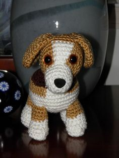 free Ravelry: Lily Baby Beagle Amigurumi Stuffed Puppy Dog pattern by Mary Walker