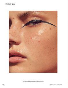 Darya Jemel Tries On Summer Beauty Looks for Vogue China Makeup Inspo, Makeup Inspiration, Makeup Ideas, Circus Makeup, Vogue Makeup, Graphic Makeup, Beauty Makeup Photography, High Fashion Makeup, Fresh Makeup