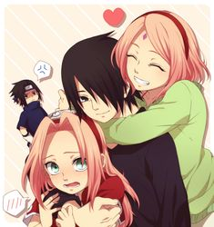 """Sasusaku: now that the older ones love each other the younger ones are just like, """"what?!?!"""""""