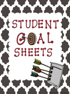 "Student Goal Sheets - ""Currently"" Status Sheet, ""Goals"" Sheet, Bookmarks, ""My Goal Folder"" Page $"