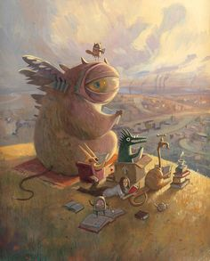 Illustration from 'Tales from Outer Suburbia' by Shaun Tan
