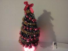 Dollhouse Christmas tree lights up by SmallthingsbyAmanda on Etsy