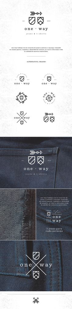 Logo / one way by juan luis artigas miccono #brand #logo #branding