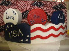 pinterest patriotic crafts | patriotic craft Painted Bricks Crafts, Brick Crafts, Painted Pavers, Brick Projects, Painted Rocks, Patriotic Crafts, July Crafts, Patriotic Decorations, Kids Crafts