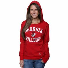 Women's Red Georgia Bulldogs Edith Long Sleeve Oversized Top ...