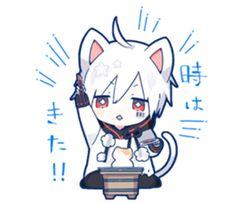 kobayashi-san chi no maid dragon elma chibi stiquer Gato Anime, Dibujos Anime Chibi, Chibi Anime, Chibi Cat, Fanarts Anime, Anime Cat, Cute Chibi, Chibi Girl, Anime Characters