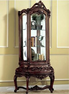 Corner Curio Victorian Furniture   This Is What I Want For My Lladro  Figurines!