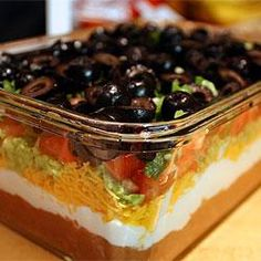 Seven Layer Dip ~ love this stuff