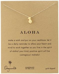 'aloha' dogeared necklace #musthave