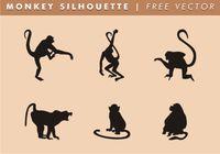Monkey Silhouette Free Vector