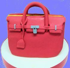 Cómo hacer tarta de bolso Hermes Birkin de fondant