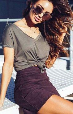 'Back To Basics' Tee + 'Too Good' Skirt                                                                             Source
