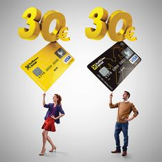 RAIFFEISEN BANK 30€ Bonus on Behance Food Graphic Design, Creative Poster Design, Ads Creative, Creative Posters, Creative Advertising, Advertising Design, Ad Design, Graphic Design Inspiration, Exhibit Design