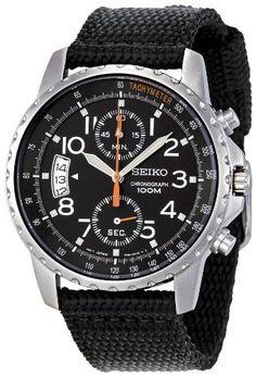 47a190467f Seiko Men s SNN079P2 Cloth Strap Watch