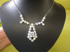 Stunning AB Drop Silver Necklace by EternalElementsEtsy on Etsy