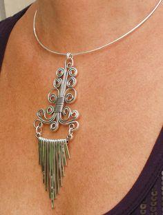 Necklace Chocker Masterpiece with Chain, via Flickr.