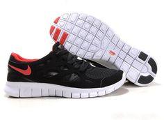 Nike Free Run 2 Mens Running Shoe Black University Red