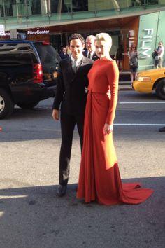 Zac Posen and Greta Gerwig at the 2014 CFDA Awards.