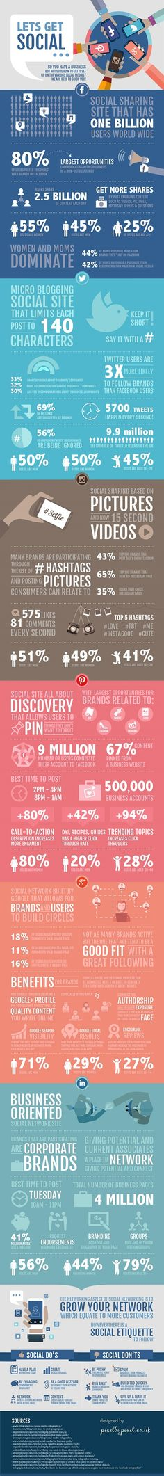 Let's Get Social! #infographic