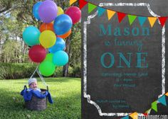 Invite - Hot Air Balloon theme - i love the chalkboard Fun Party Games, Craft Party, Party Themes, Party Ideas, Mini Balloons, Helium Balloons, Balloon Invitation, Invitations, Invite