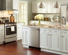 28 Trendy kitchen cabinets colors home depot Kitchen Cabinets Brands, Refacing Kitchen Cabinets, Custom Kitchen Cabinets, Kitchen Countertops, Cabinet Refacing, Gray Cabinets, Kitchen Island, Kitchen Cabinets Color Combination, Kitchen Cabinet Colors
