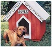 DIY Doghouse Building Plans. This website has tons of diy plans for inside and outside stuff.