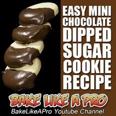 Easy Mini Chocolate Dipped Sugar Cookies Recipe ►►► CLICK PICTURE for video recipe