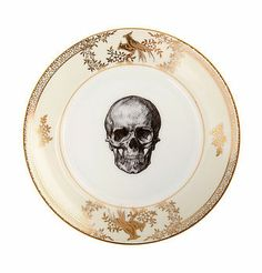 upcycled skull design gold side plate... love, love, love this